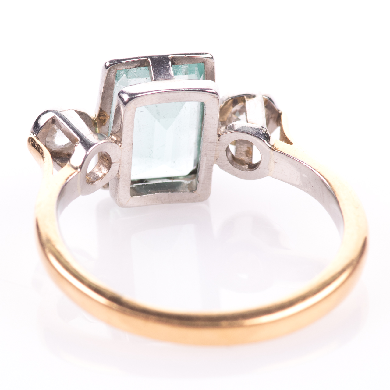 22ct Gold & Platinum 2ct Aquamarine & Diamond Art Deco Ring - Image 6 of 8