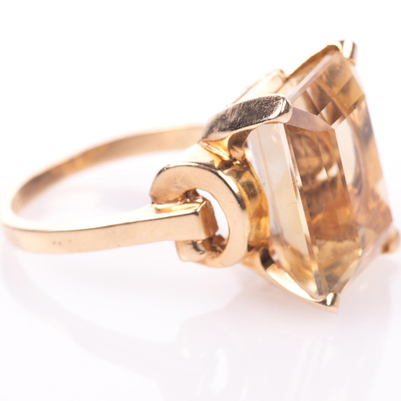 14ct Gold 15ct Citrine Ring - Image 7 of 7