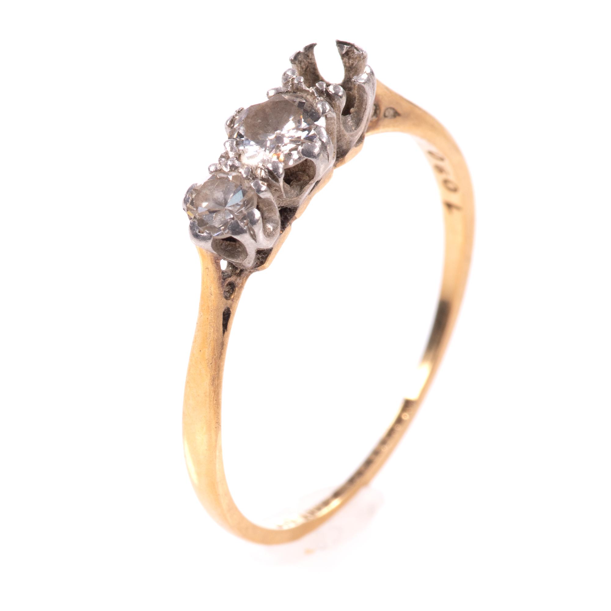 18ct Gold & Platinum 0.40ct Diamond Ring
