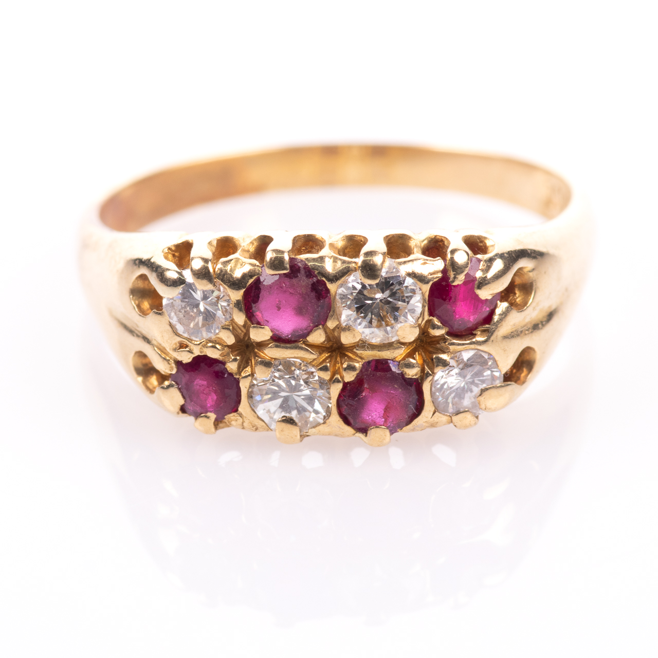 18ct Gold 0.60ct Ruby & 0.50ct Diamond Ring