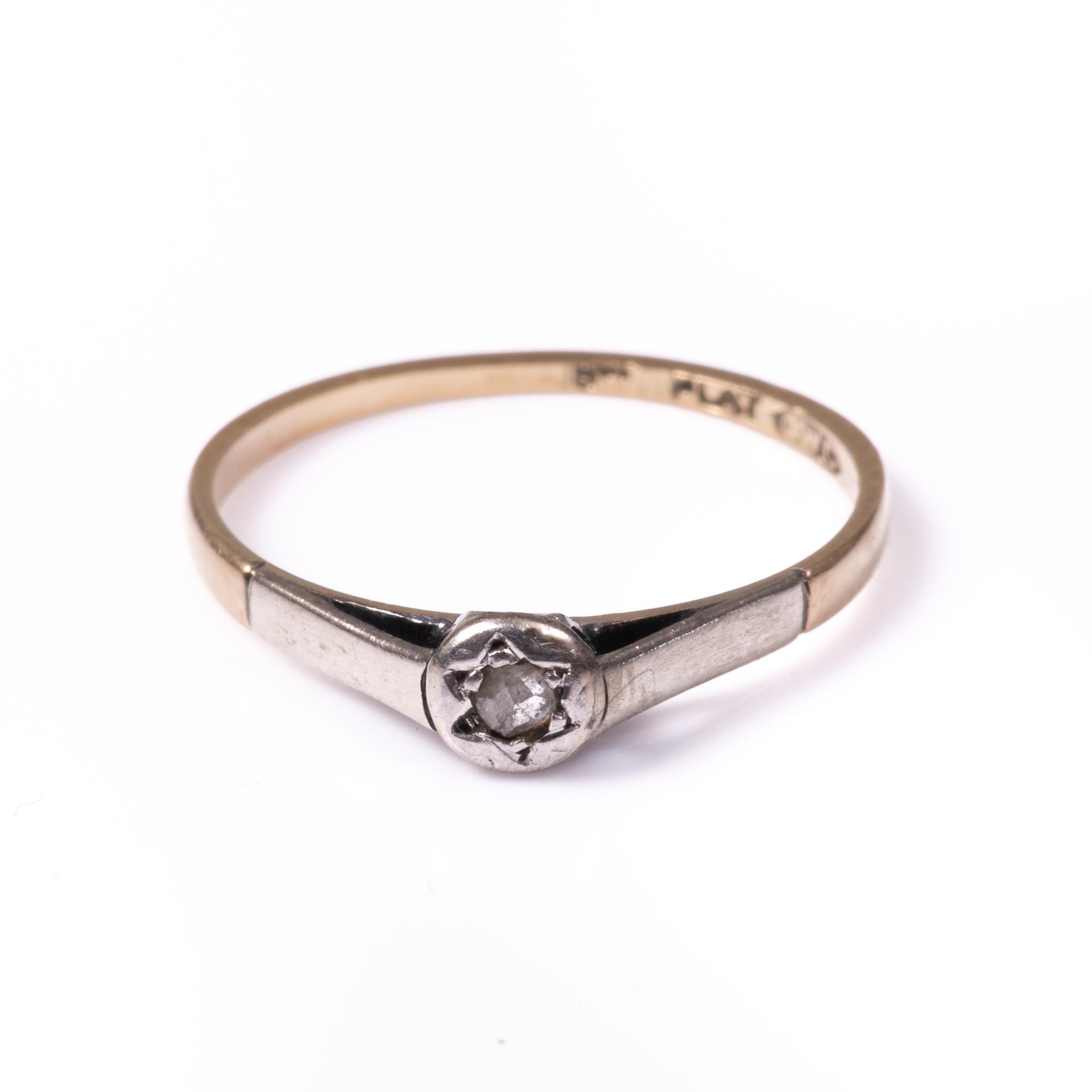 18ct Gold & Platinum Rose Cut Diamond Ring - Image 3 of 7