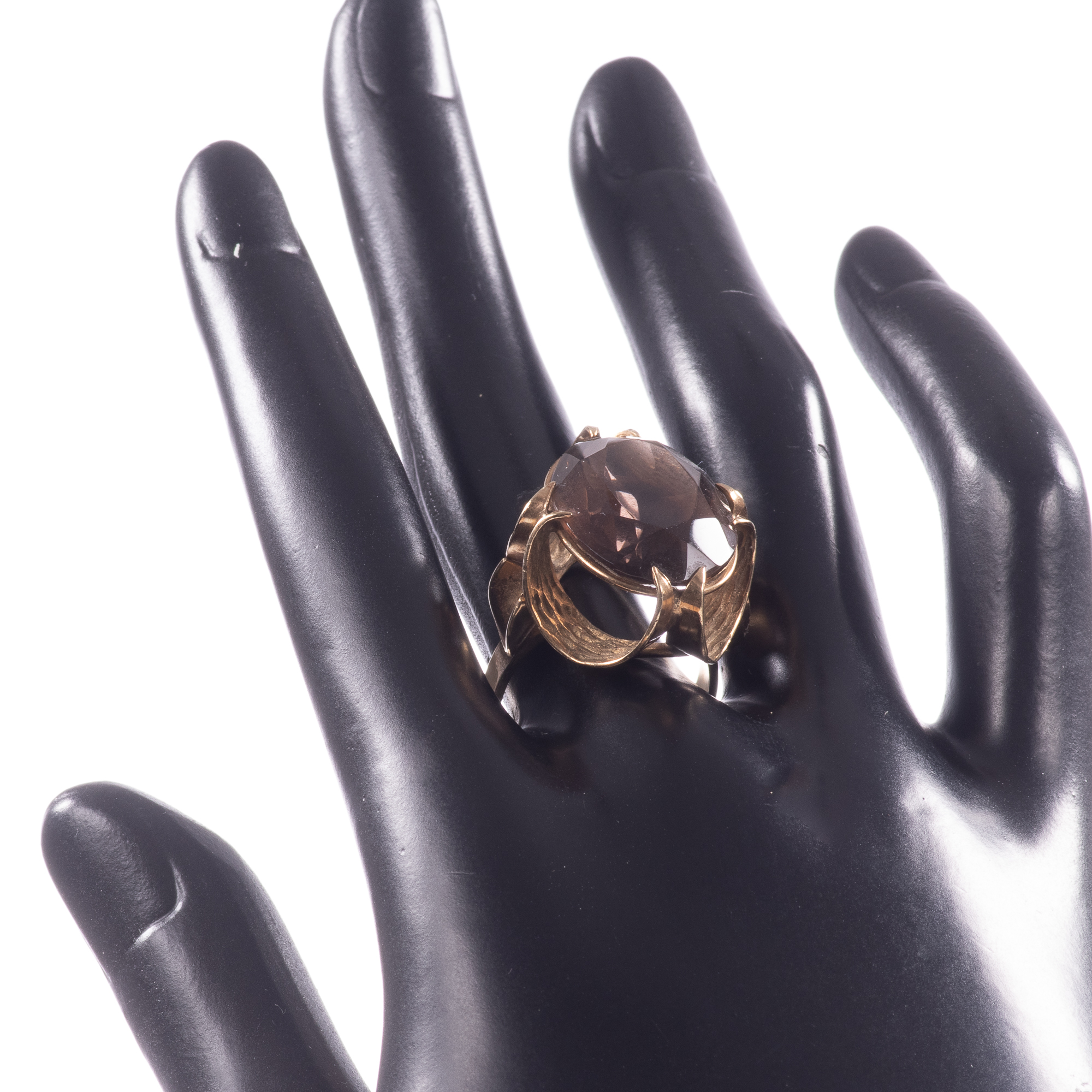 9ct Gold 12.75ct Smoky Quartz Ring - Image 2 of 7
