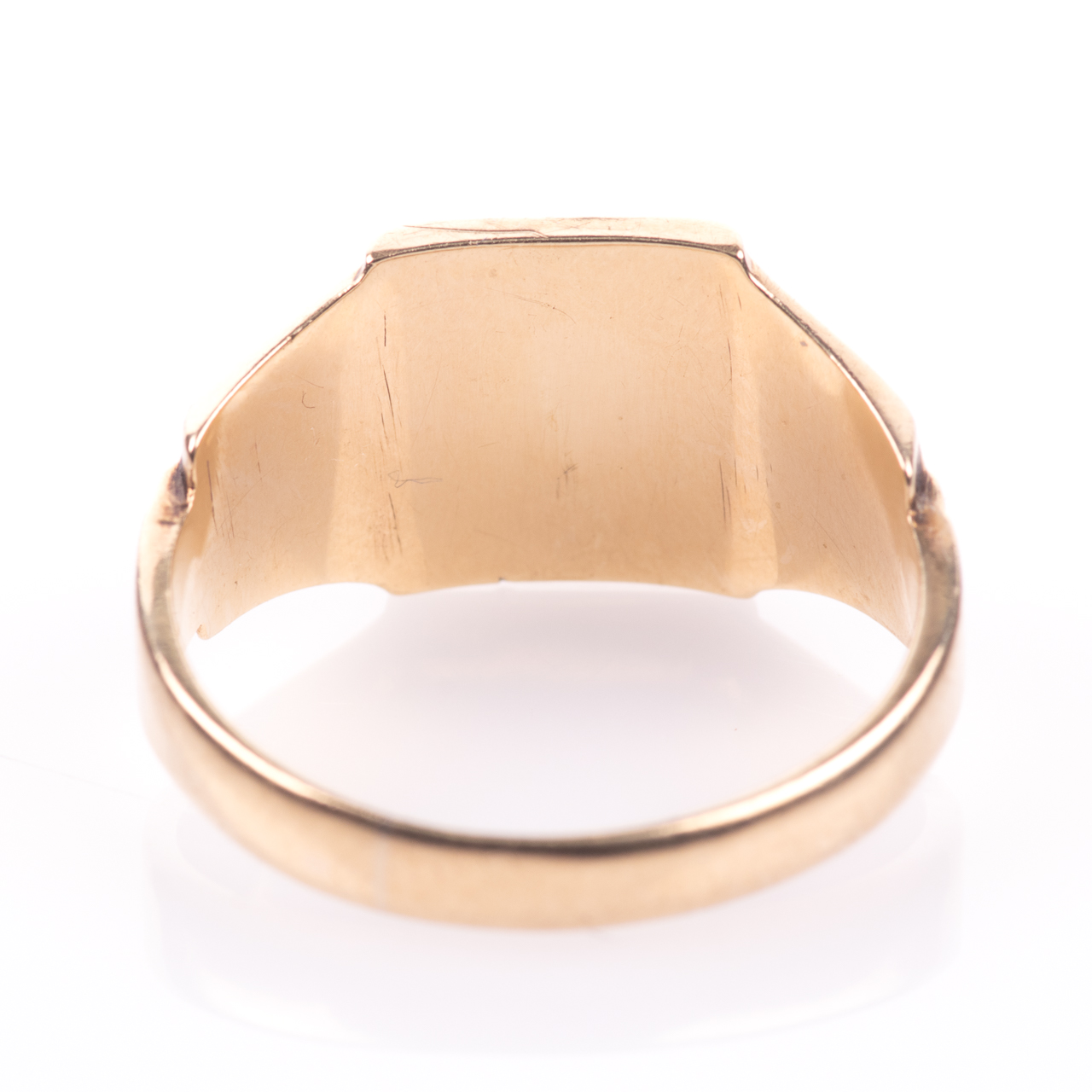Art Deco Style Gentleman's Signet Ring 9ct Gold - Image 6 of 7