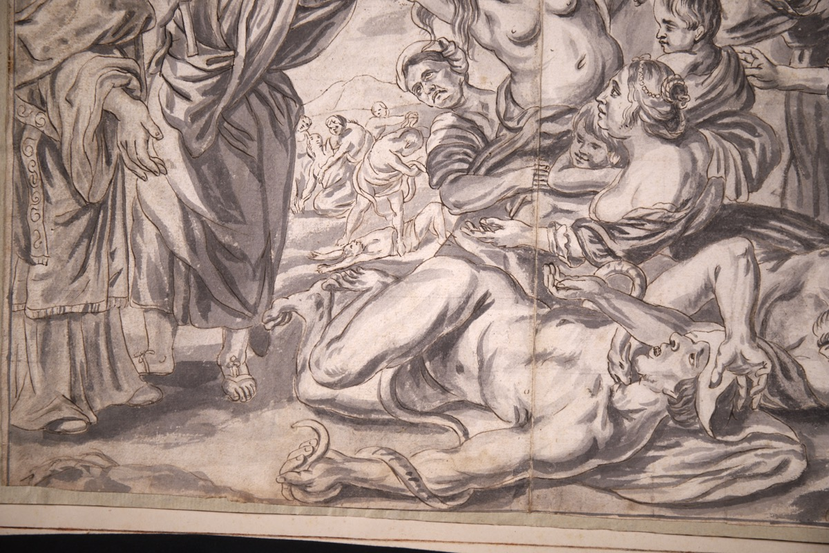 XVIII Ink & Wash French Old Master Drawing - Image 5 of 8