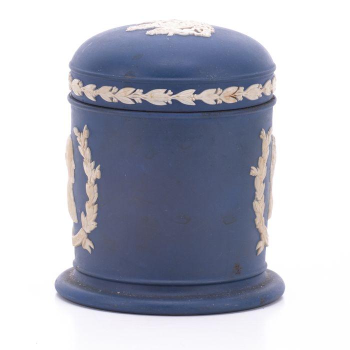 Wedgwood Jasperware Silver Jubilee Queen Elizabeth Jar - Image 7 of 7