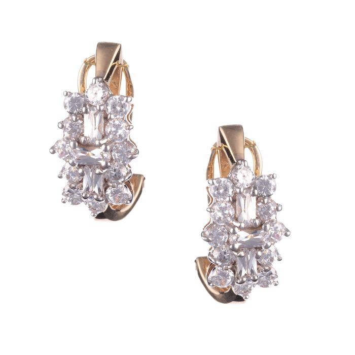 9ct Gold Cluster Earrings