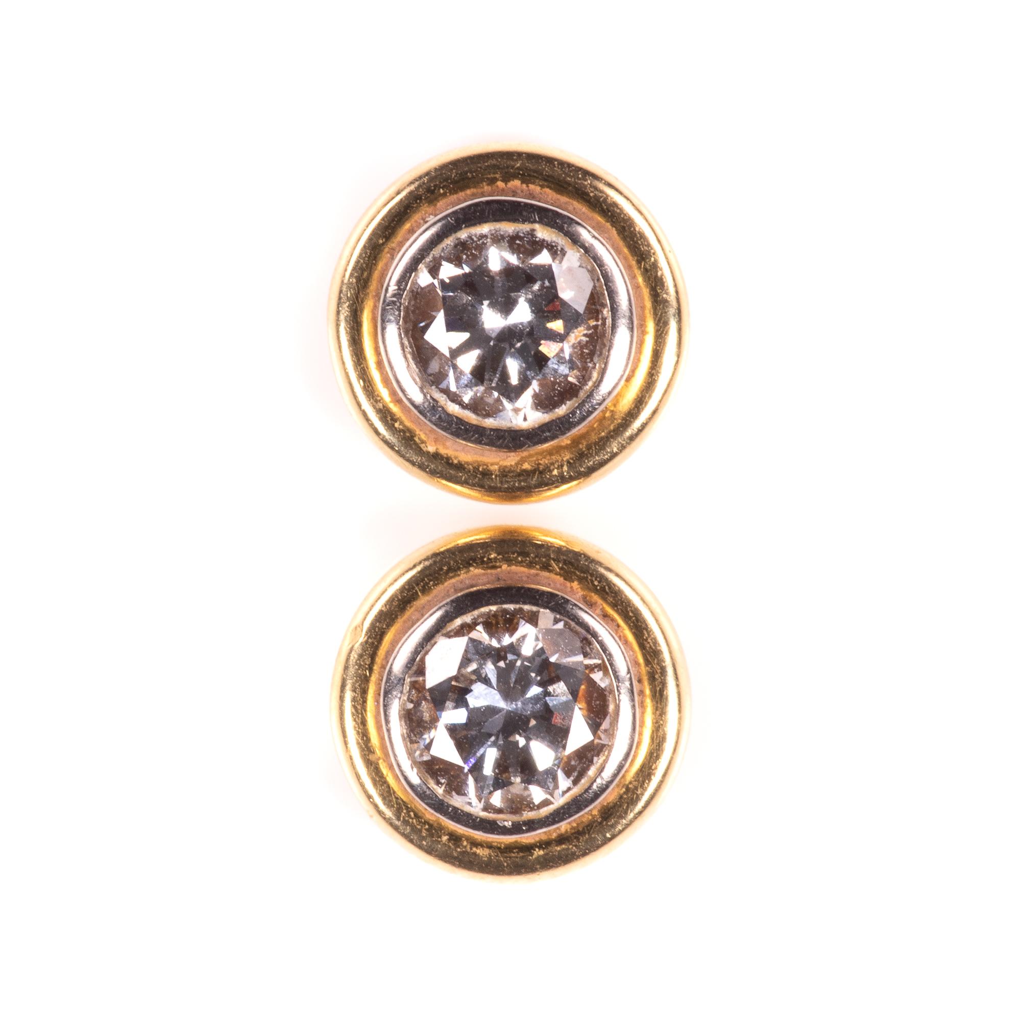 18ct Gold 1ct Diamond VVS1 Earrings
