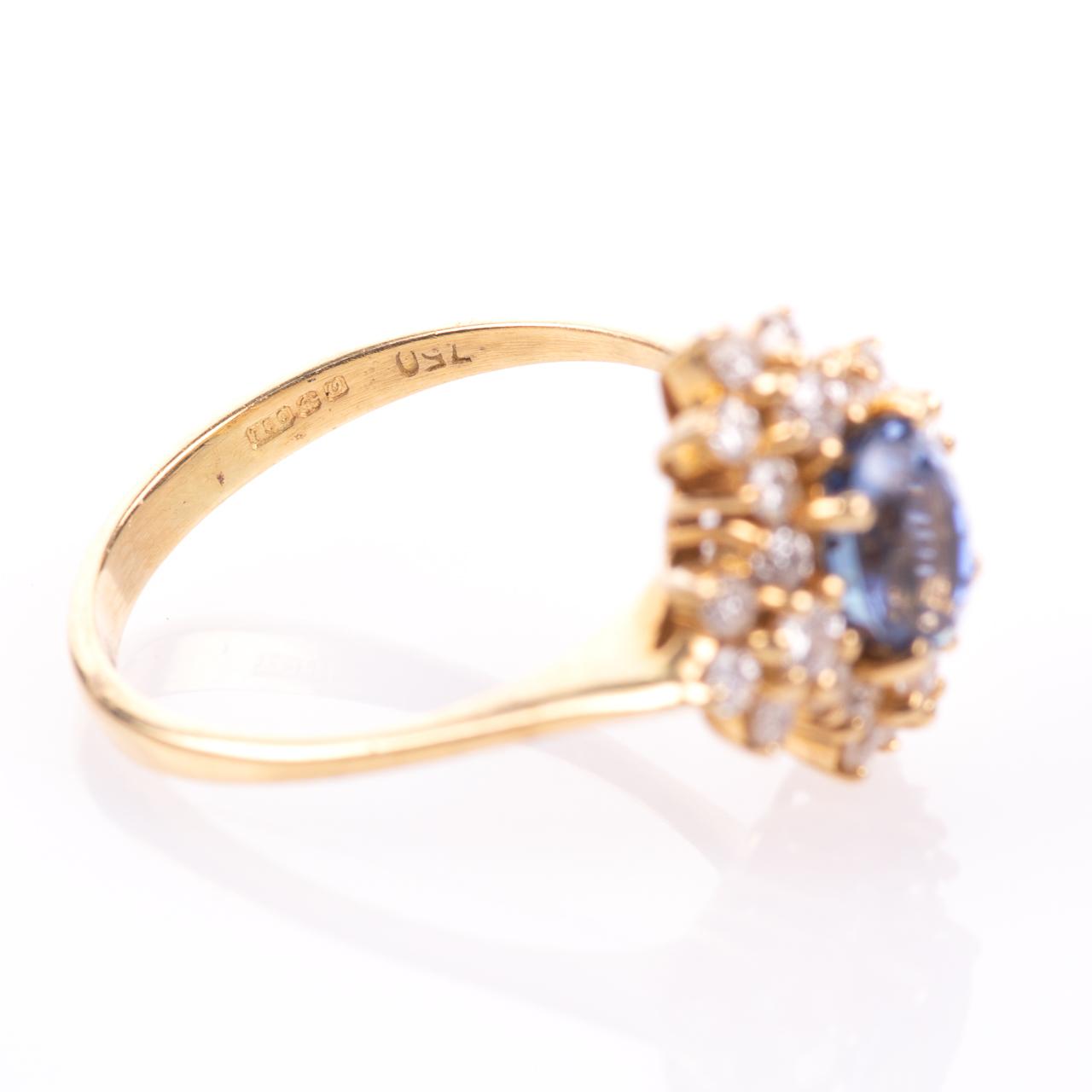 18ct Gold 1ct Sapphire & 0.70ct Diamond Ring - Image 7 of 8