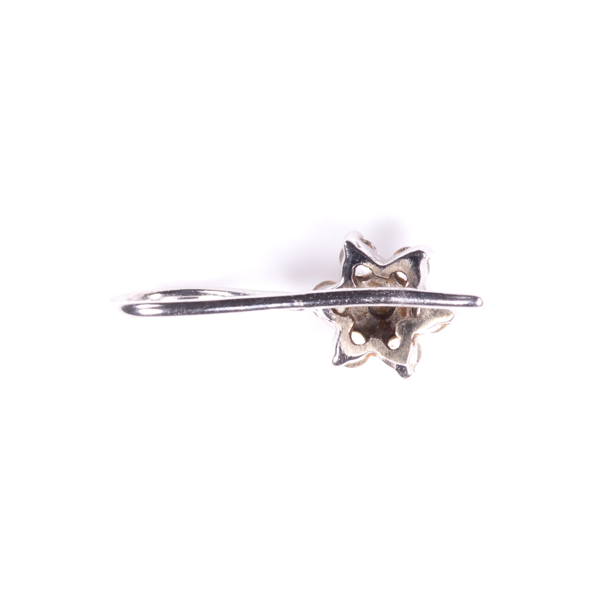 White Gold 0.40ct Diamond Cluster Earrings - Image 5 of 7