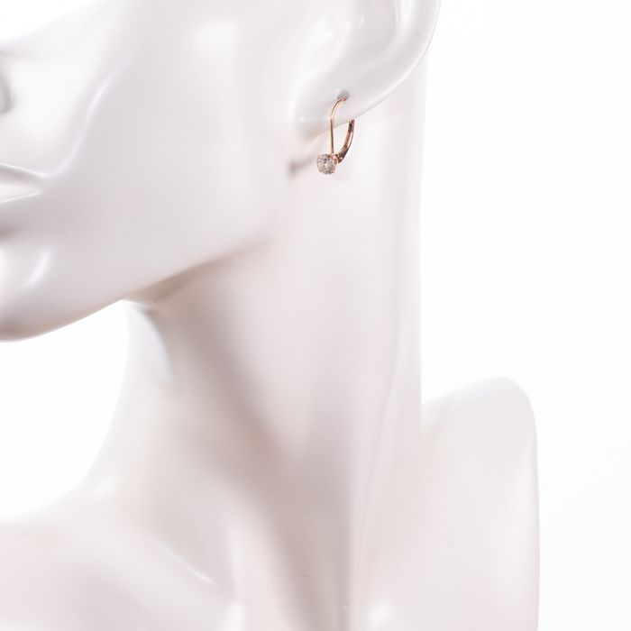 14ct Pink Gold Earrings - Image 2 of 3