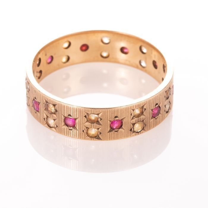 9ct Gold Art Deco Ruby Ring - Image 5 of 6
