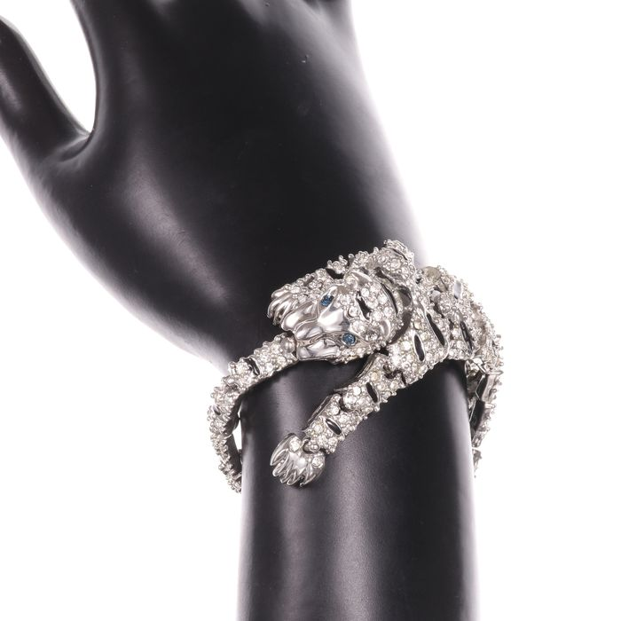 Cartier Style Articulated Panther Enamel Bracelet - Image 2 of 5