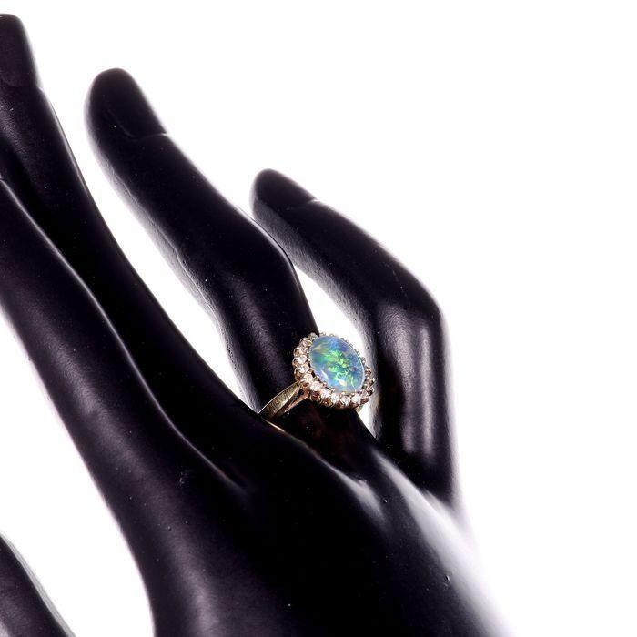 Gilt Black Opal Ring - Image 2 of 6