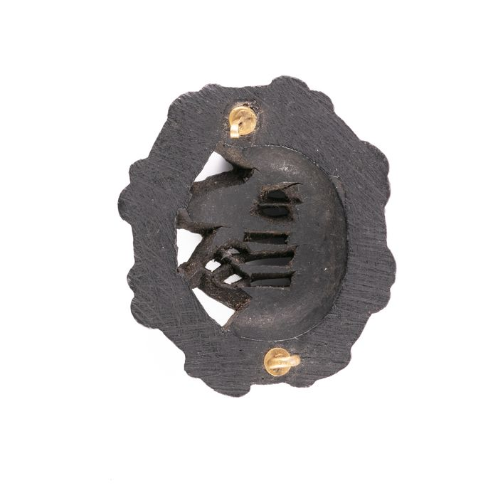 Victorian Gothic Revival Whitby Jet Brooch - Image 3 of 3