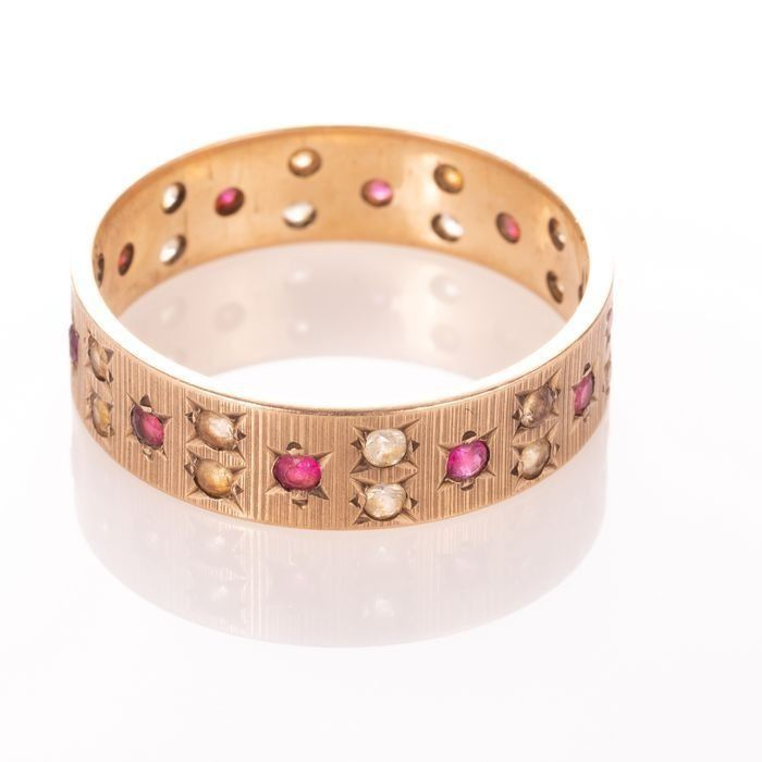 9ct Gold Art Deco Ruby Ring - Image 6 of 6