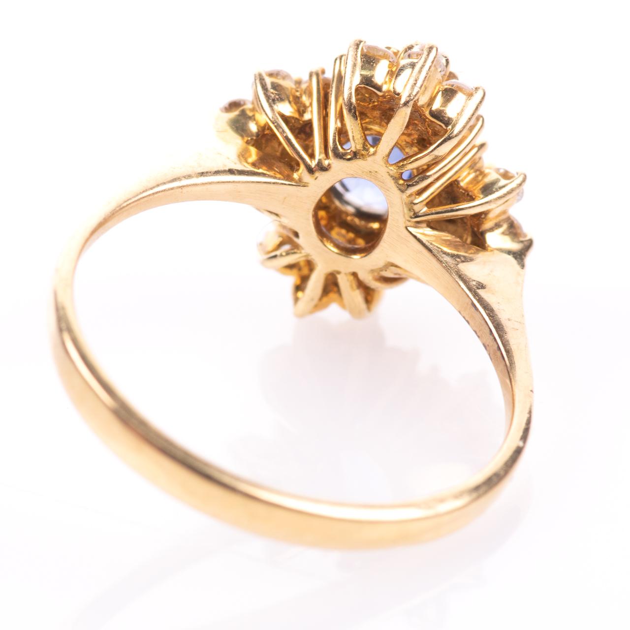18ct Gold 1ct Sapphire & 0.70ct Diamond Ring - Image 6 of 8