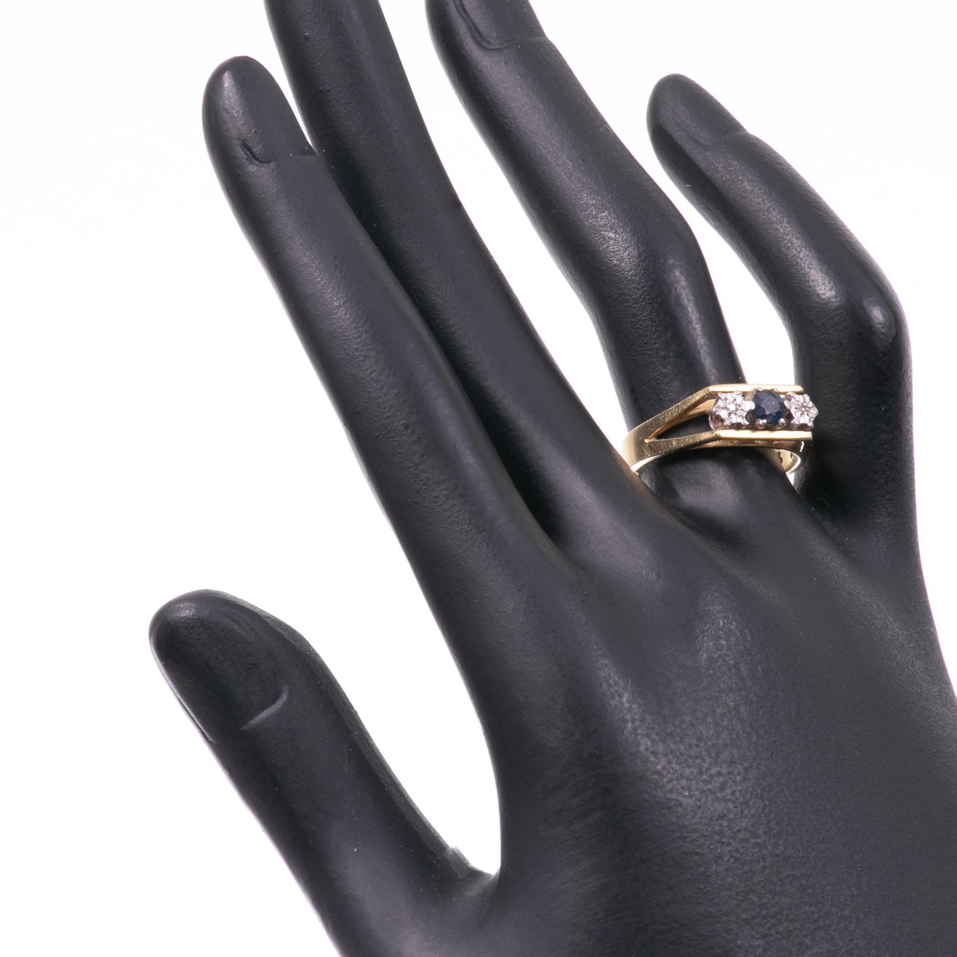 18ct Gold Sapphire & Diamond Ring - Image 2 of 6