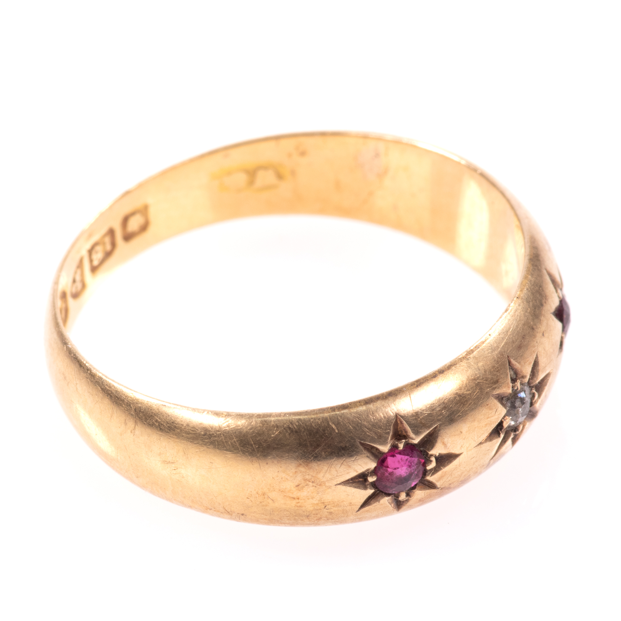 18ct Gold Edwardian Ruby & Diamond Ring Chester 1909 - Image 8 of 8