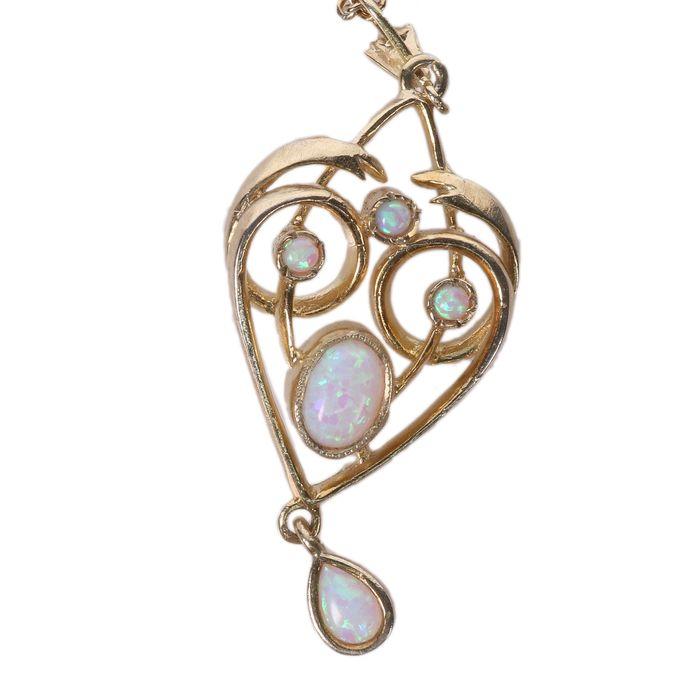 Gilt Opal Pendant Necklace