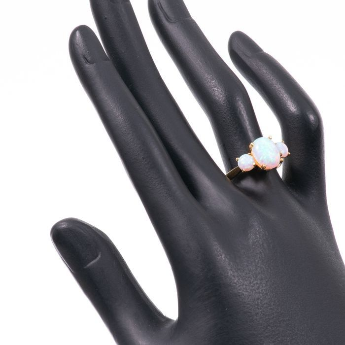 Opal & Paste Gilded Ring - Image 2 of 5