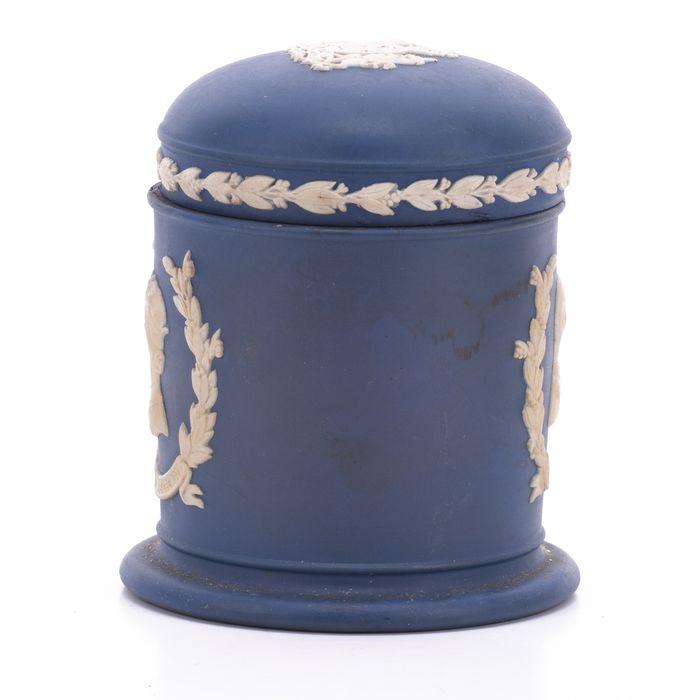 Wedgwood Jasperware Silver Jubilee Queen Elizabeth Jar - Image 5 of 7