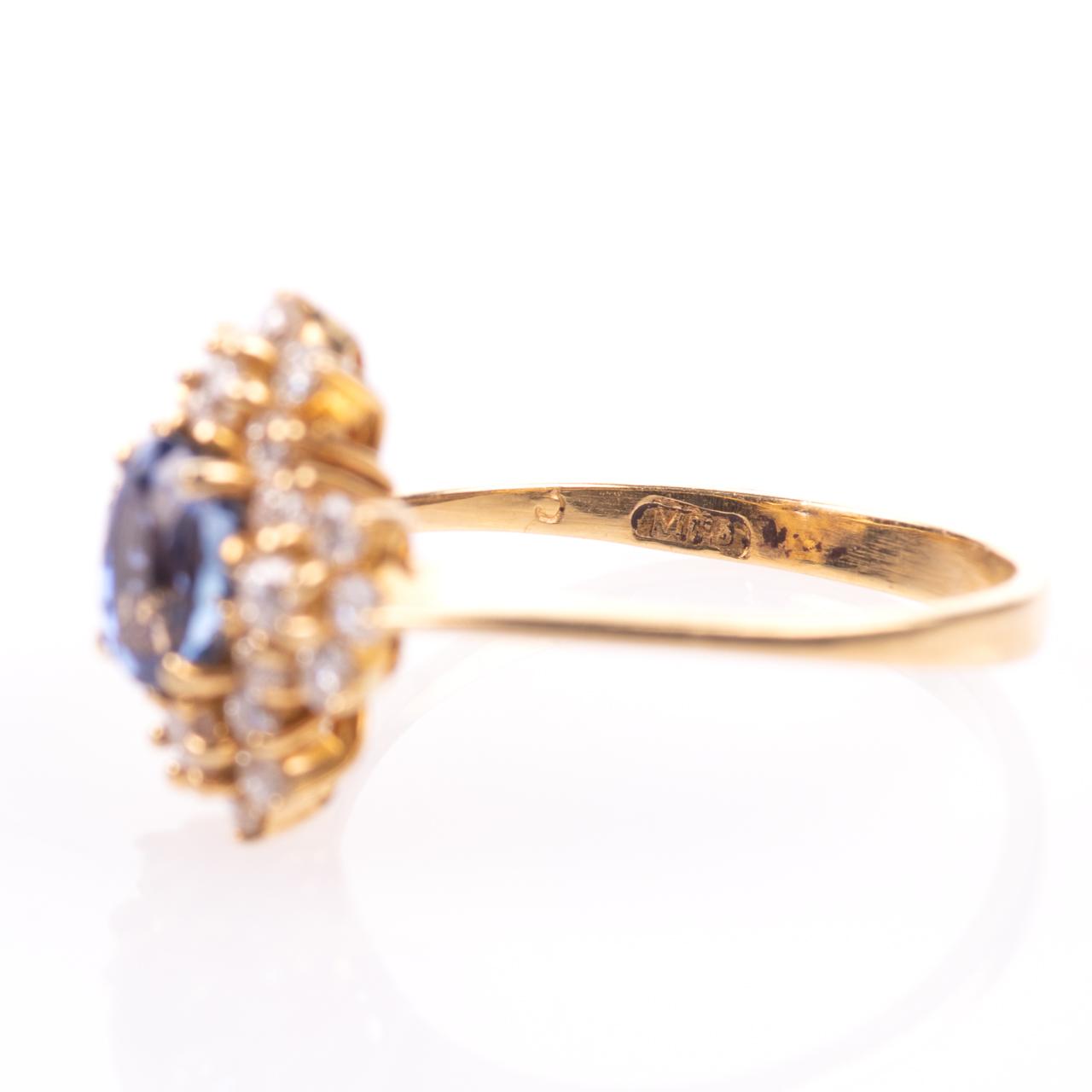 18ct Gold 1ct Sapphire & 0.70ct Diamond Ring - Image 5 of 8