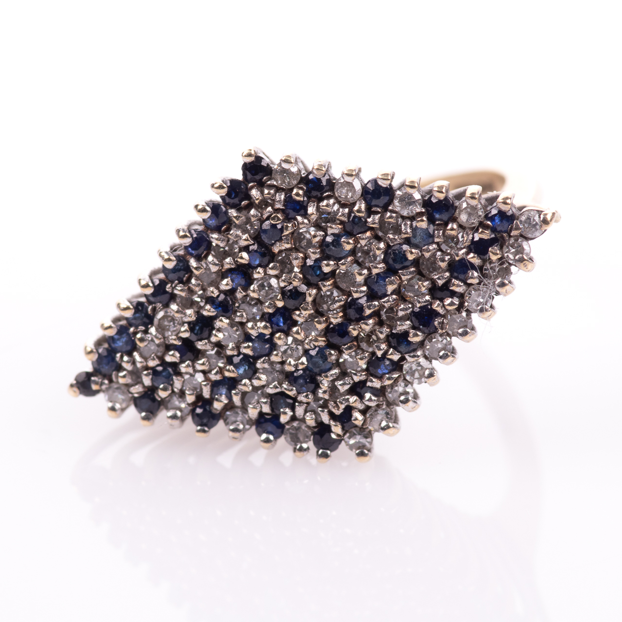 9ct Gold Sapphire & 0.50ct Diamond Ring Sheffield 1979 - Image 3 of 7