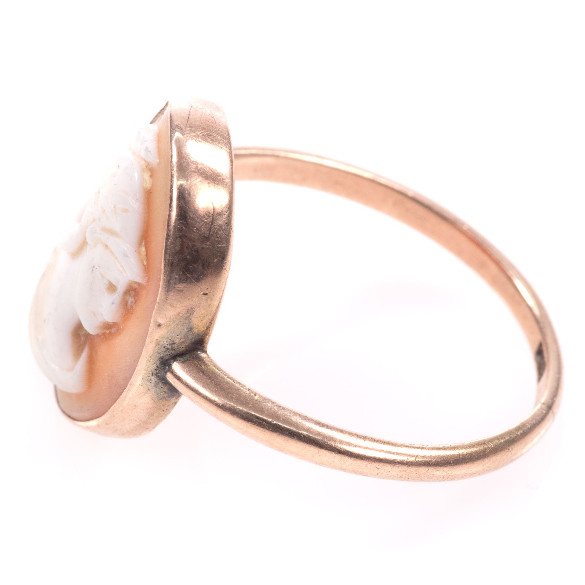 9ct Gold Roman Cameo Ring - Image 4 of 7