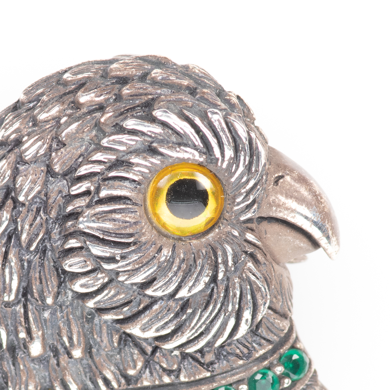 Silver Emerald Parrot Brooch - Image 2 of 6