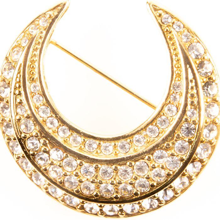 Joan Rivers Crescent Moon Designer Brooch - Image 2 of 3