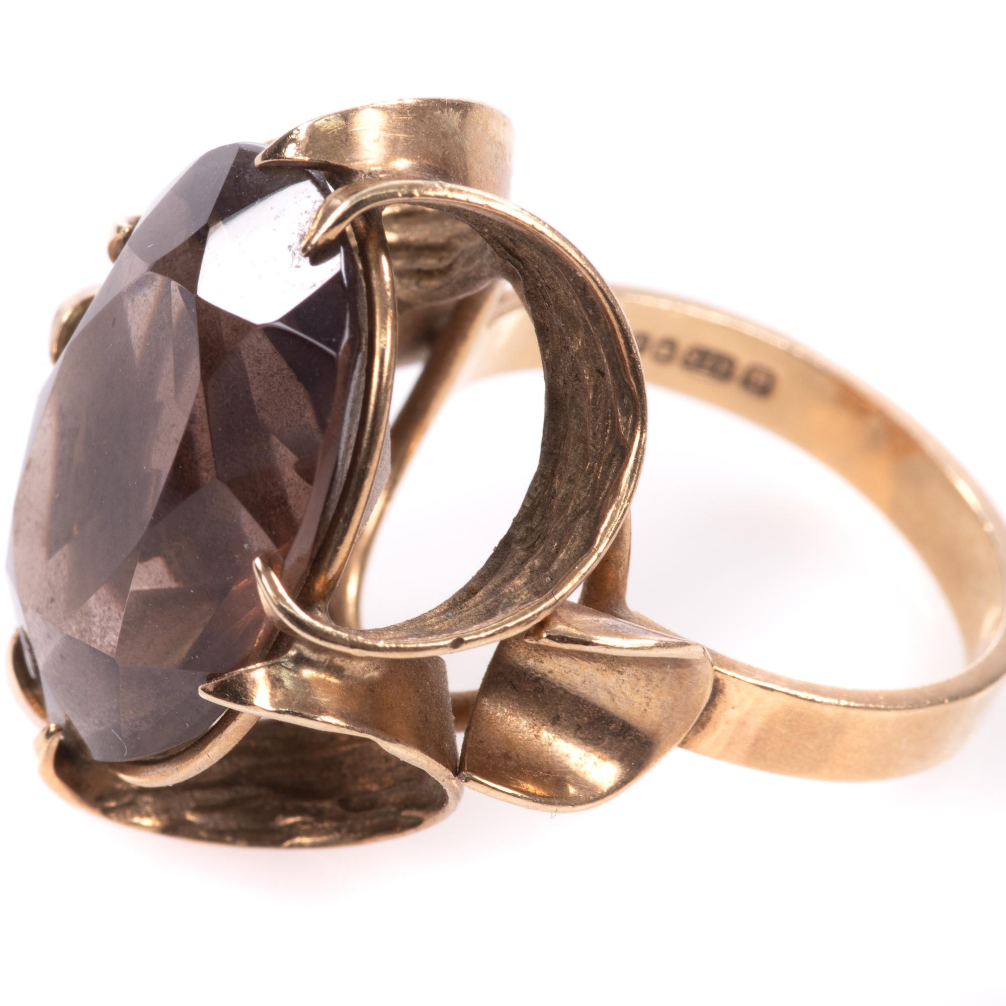 9ct Gold 12.75ct Smoky Quartz Ring - Image 4 of 7