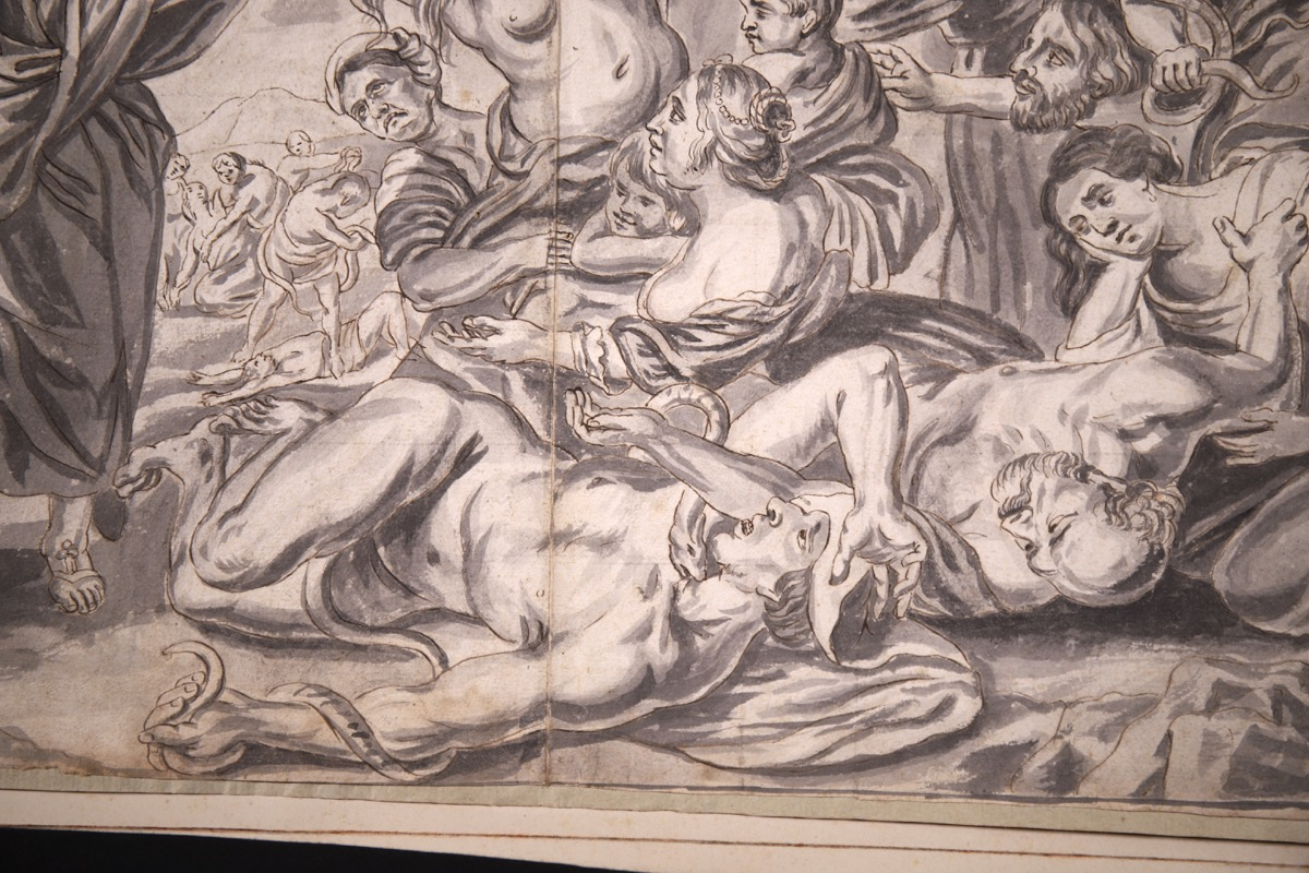 XVIII Ink & Wash French Old Master Drawing - Image 6 of 8