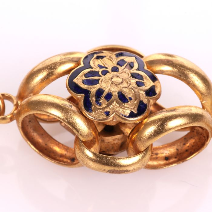 Victorian Gilt Enamel Necklace - Image 6 of 7