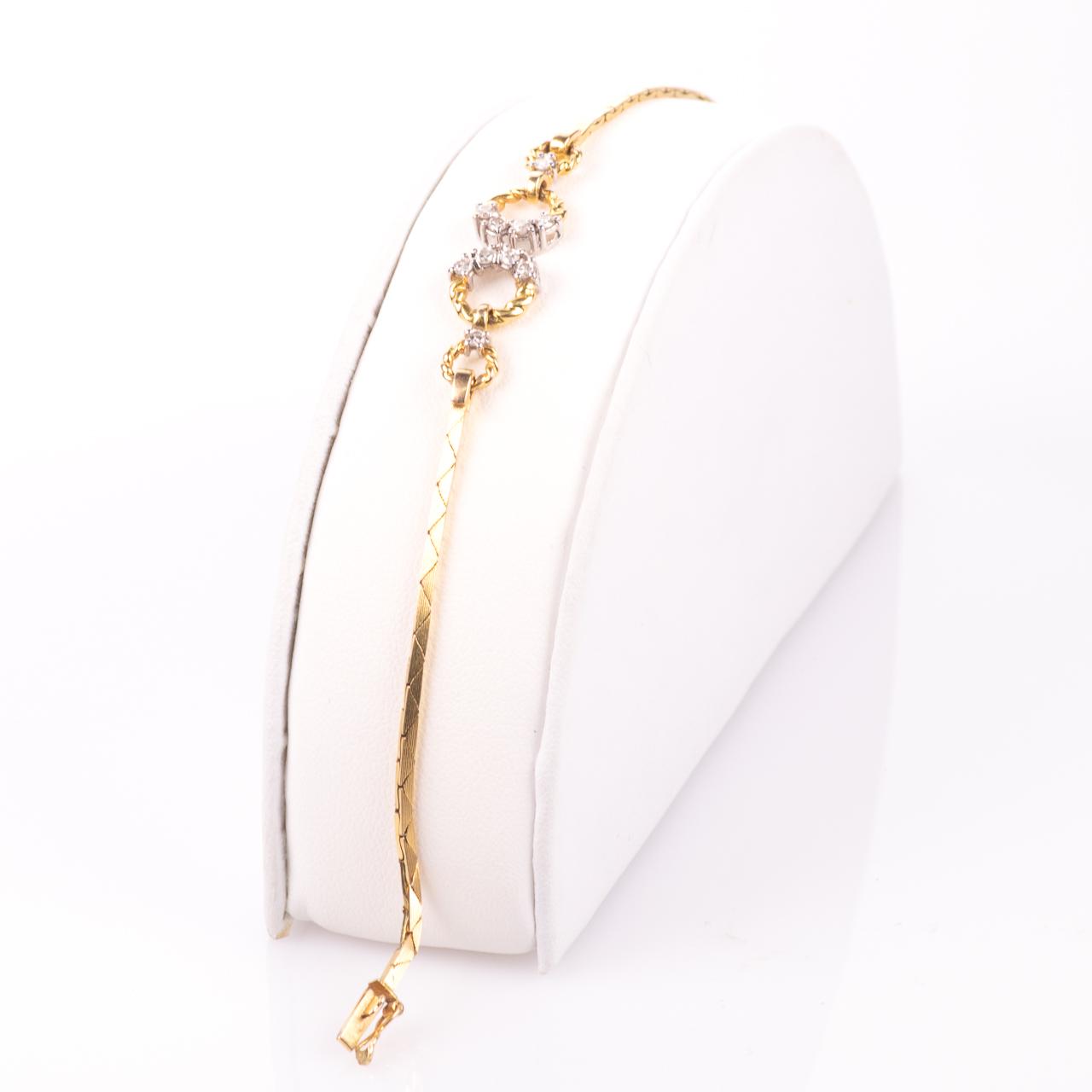 18ct Gold 0.30ct Diamond Bracelet - Image 3 of 6