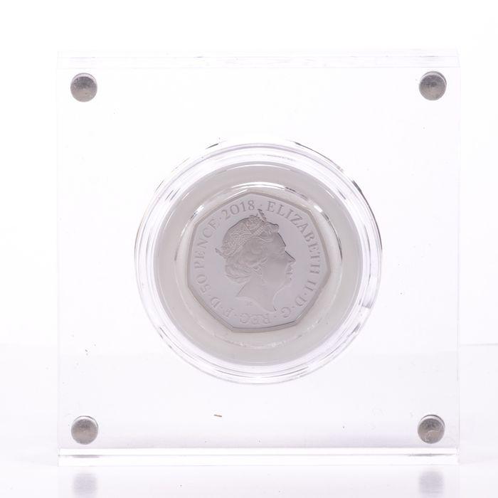 UK 50 Pence Silver Coin Beatrix Potter - Mrs Tittlemouse - Image 3 of 6