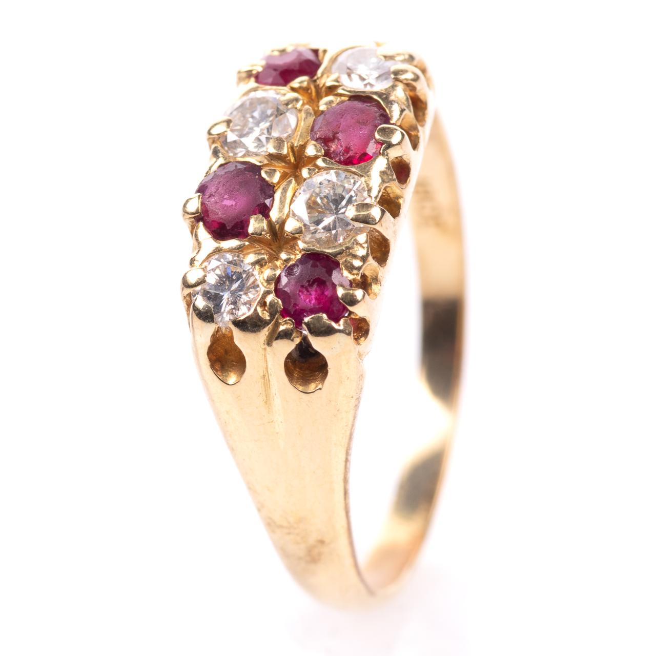 18ct Gold 0.60ct Ruby & 0.50ct Diamond Ring - Image 2 of 7