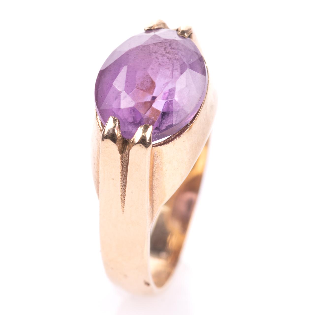9ct Gold 3.20ct Amethyst Ring