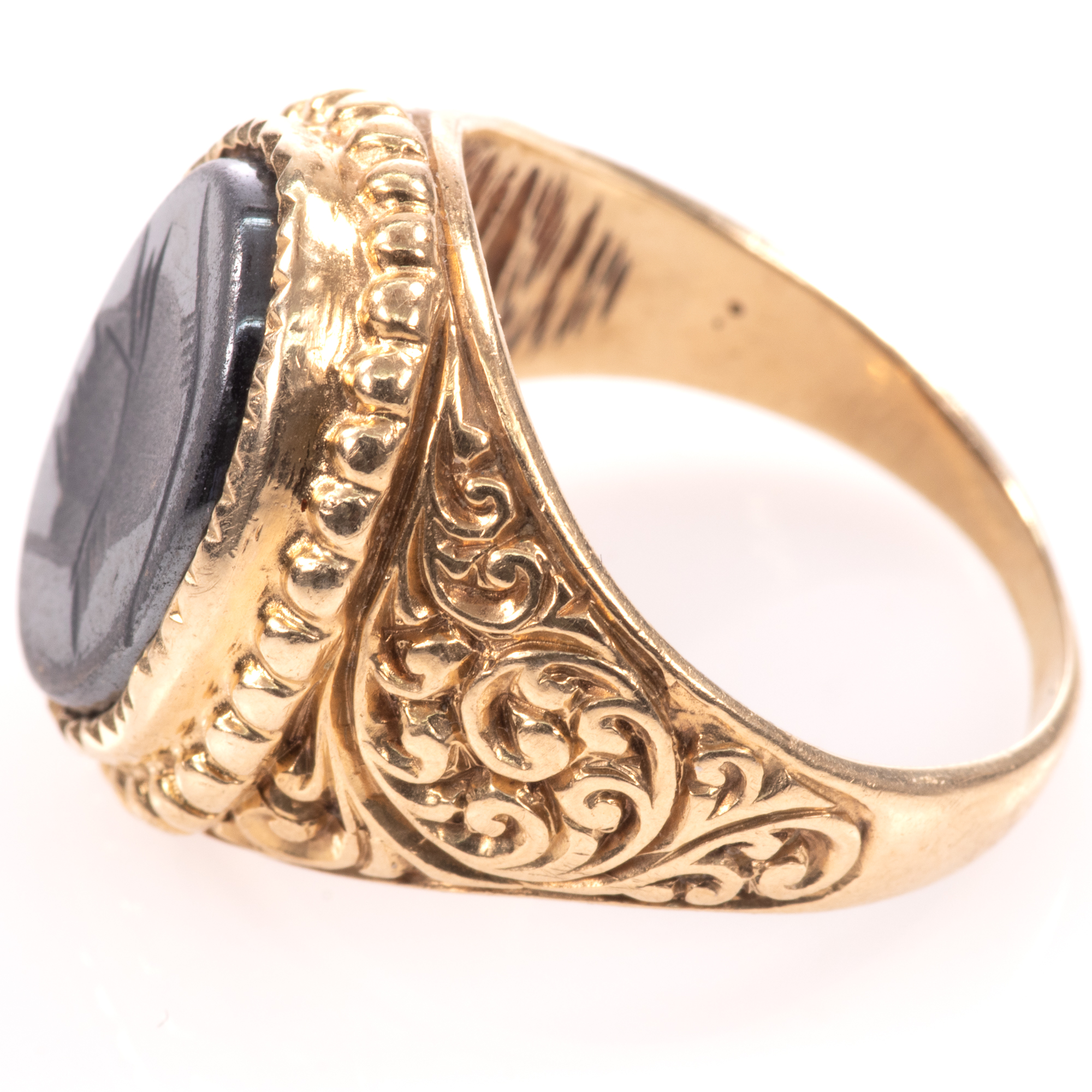 9ct Gold Centurion Onyx Signet Ring - Image 4 of 7