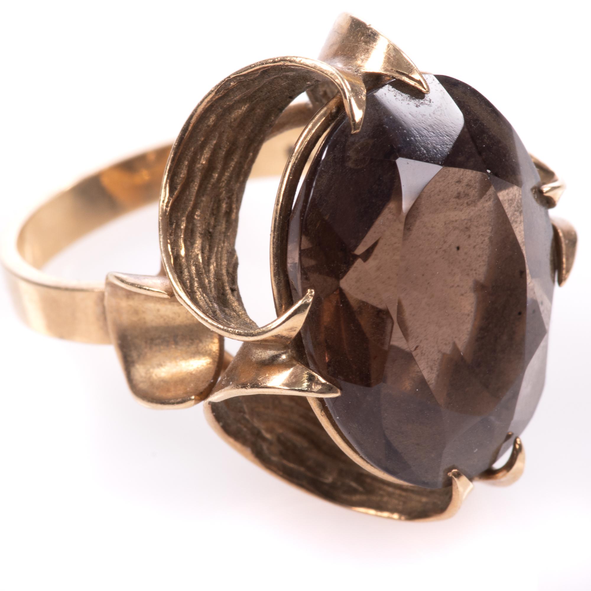 9ct Gold 12.75ct Smoky Quartz Ring - Image 6 of 7