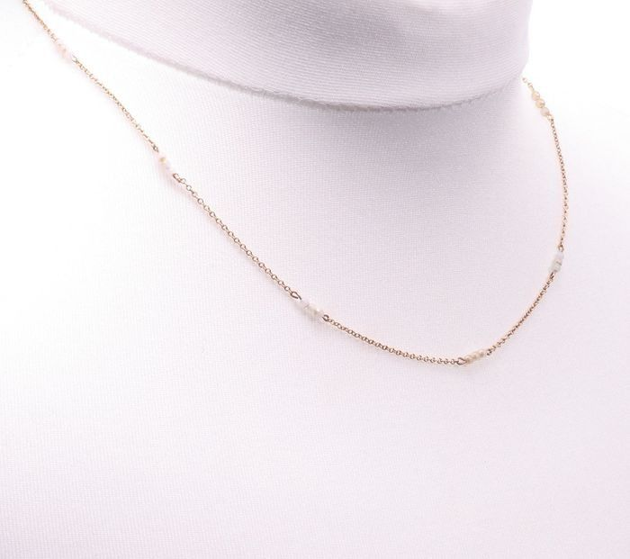 9ct Gold Seedpearl Necklace