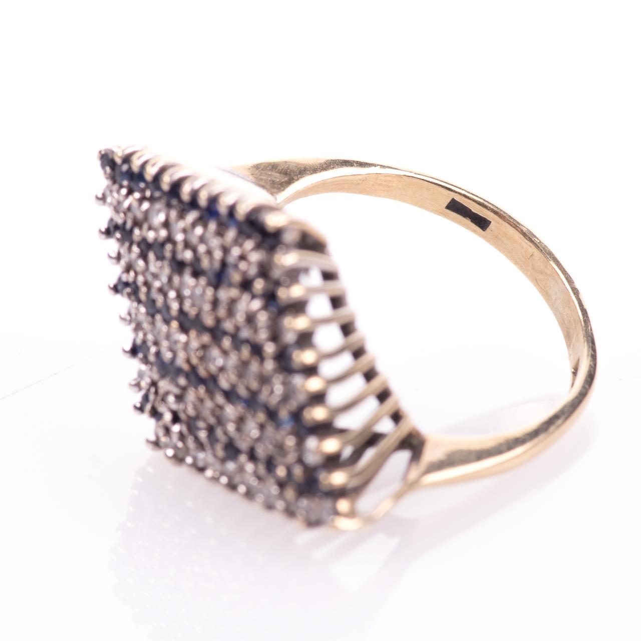 9ct Gold Sapphire & 0.50ct Diamond Ring Sheffield 1979 - Image 7 of 7