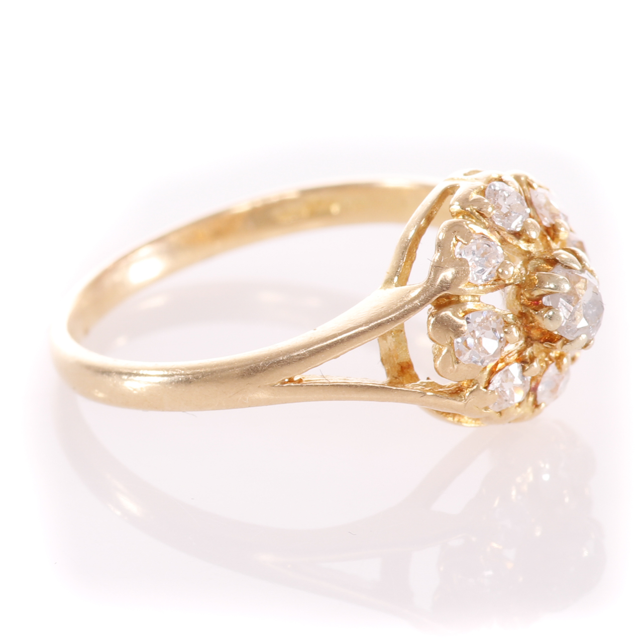 18ct Gold Rose Cut 0.35ct Diamond Cluster Ring - Image 8 of 8