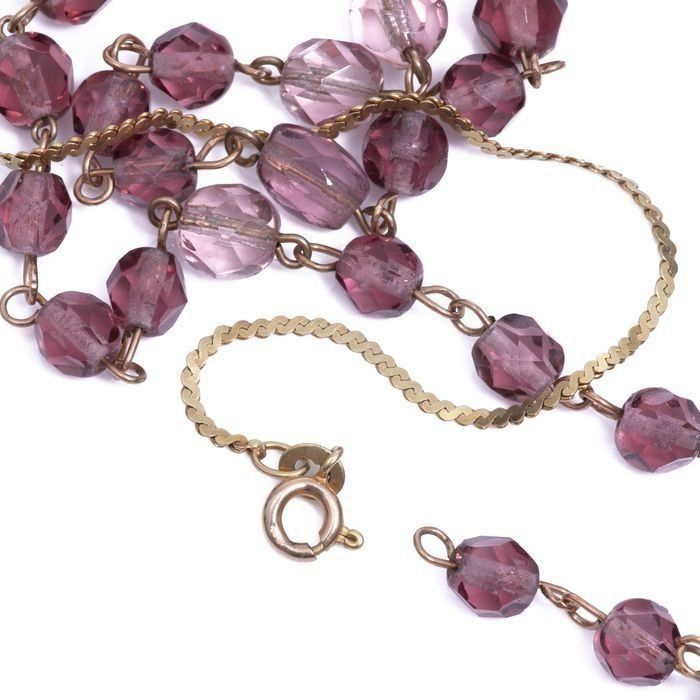 15ct Gold Amethyst Necklace - Image 5 of 5
