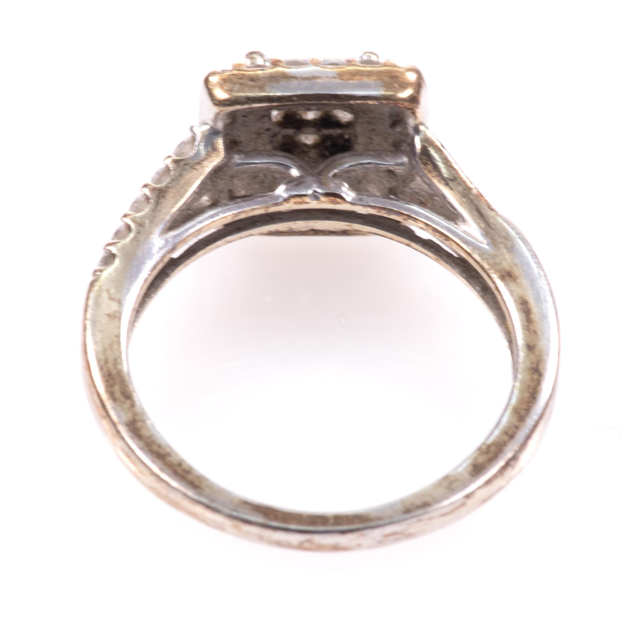 9ct White Gold 0.40ct Diamond Ring - Image 5 of 6