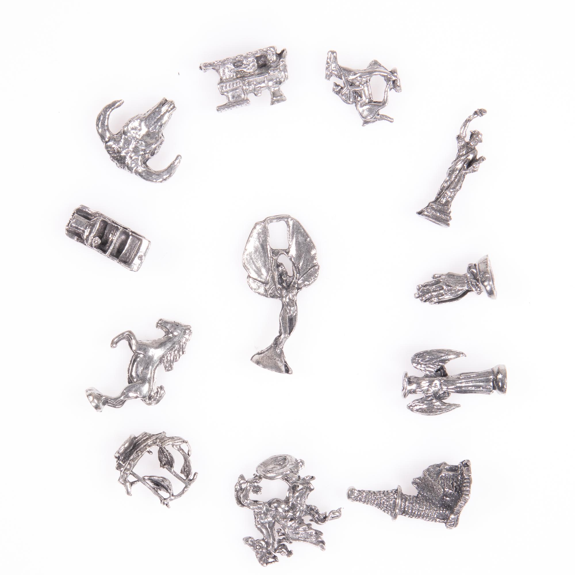 Selection of 12x Silver Novelty Charms