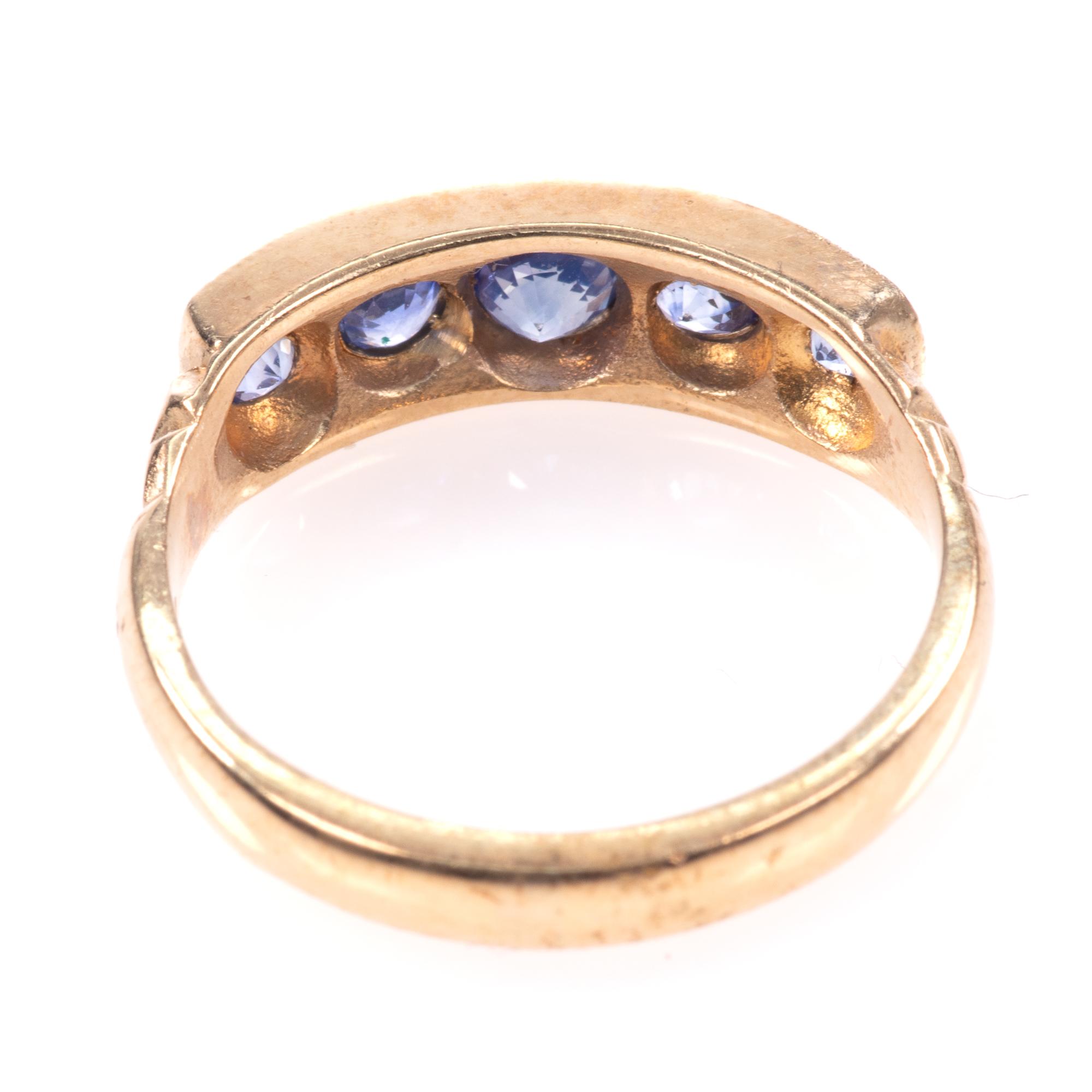 9ct Gold Aquamarine Ring - Image 5 of 8