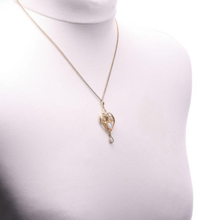 Gilt Opal Pendant Necklace - Image 2 of 5