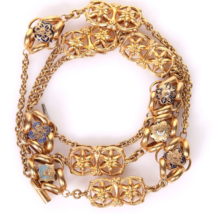 Victorian Gilt Enamel Necklace - Image 7 of 7