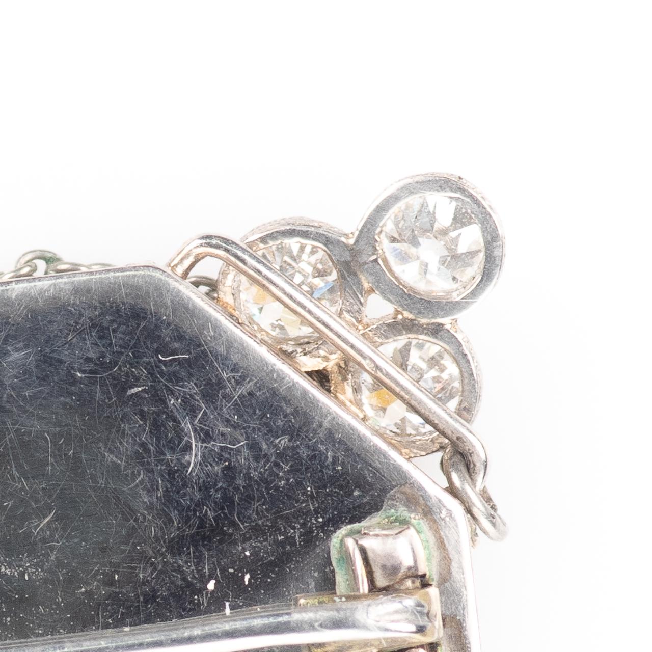 Platinum Art Deco 0.90ct Diamond Watch Brooch - Image 5 of 6