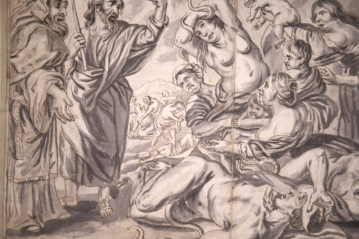 XVIII Ink & Wash French Old Master Drawing - Image 4 of 8